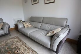 Leather Sofas and matching foot stool