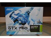 MSI GeForce GTX 760 OC Edition PCI-E 3.0 graphics card