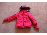 Heart Print Padded Girls Winter Coat from Marks and Spencer size 2 – 3 Years