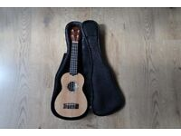 KALA SSTU TRAVEL SERIES SOPRANO UKULELE THIN LINE. Solid spruce top, Mahogany back and sides