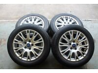 "GENUINE OEM 2011 FORD FOCUS 16"" 5X108 ALLOY WHEELS + MATCHING NEXEN TYRES VOLVO CONNECT"