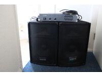 DJ-12 - Warrior Definitive Audio speakers. AND 300 Amplifier