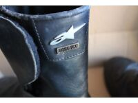 Leather Motorcycle Boots Size 8 Gore - Tex