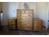 Bedroom Chest of Drawers and matching bedside cabinets