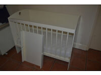 ADJUSTABLE HANDMADE COT & MATTRESS IN GOOD CONDITION