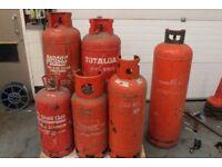 JOB LOT OF PROPANE GAS BOTTLES X 6