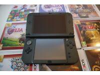Nintendo New 3DS XL Metallic Black + 11 GAMES + ACCESORIES
