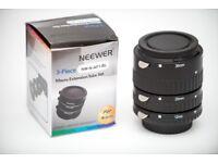 Neewer 12mm, 20mm, 36mm Black Auto Focus Macro Extension Tube Set for Nikon Cameras