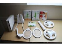 Nintendo Wii with numerous accessories