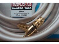 Atlas Equator MkII audio interconnect cables 2.0m HiFi