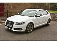 Audi A3 black edition 3dr White - Just had Service, MOT and New EGR Valve!