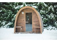 WOODEN SAUNA PODS DELIVERED AND INSTALLED FROM £3500