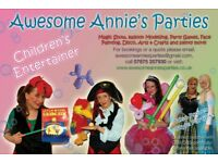 Children's Party Entertainer, Balloon twister, face painter, bubbles, puppets, games, disco!