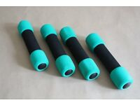 Soft grip dumbells (pair)