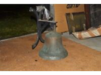 Solid cast iron/brass bell