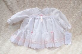 white dress age 3-6 months