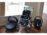 3 in 1 travel system.Pram/Buggy/Stroller pushchair with rain cover,GREAT CONDITION,easy to fold