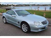 Mercedes SL350, 2004, 46,000 miles, 3.7l, Petrol, Telur Silver, 7 speed G-Tronic auto.