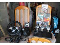 Logitech G27 steering wheel PC/ PS3 plus 5 top title PC games