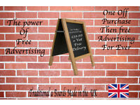 Traditional Wooden A Boards Fully printed Or Blank Free Shipping