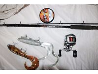 Savage Gear Big Lure & Jerk rod with baitcaster lures and braid pike fishing