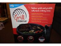 JML Grill Circle 40cm Indoor Grill and Griddle BBQ