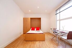 Bright and spacious studio in the heart of South Ken, 2 mins walk to Gloucester road Station.