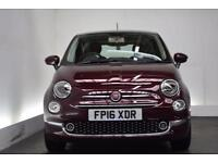 FIAT 500 1.2 LOUNGE [PAN ROOF] 3d 69 BHP (red) 2016