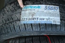2 BRAND NEW FEDERALTYRES 225/60 R15