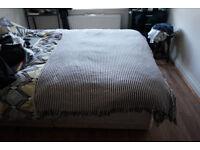 Throw/Blanket Ikea Tuvalie Black and White Stripe