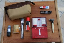 Emirates Business Class Bulgari Men's Wash Bag Amenity Kit, new