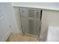 Brand new Chrome curved towel radiator
