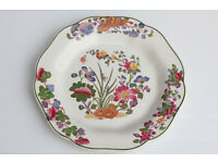 Vintage Old Wedgwood Etruria Plate Handpainted Over Transfer -Groups Decorative Plate Wedgewood