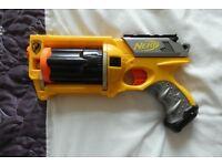 Maverick Rev 6 Nerf gun with full magazine