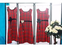 Fully Stitched Tartan Chikd' Dress - £8.99 Each - Zee.H.M Fashion