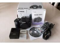Canon 600D DSLR body only in very good condition with original box, packaging and spare battery