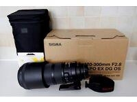 Sigma 120-300mm f2.8 EX DG HSM OS lens for Canon EOS DSLR cameras like 1d ii iii iv 1ds 5d 6d 7d 80d