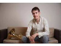 FRENCH HORN MUSIC TEACHER TUTOR IN NORTH LONDON - BRASS INSTRUMENT LESSONS AT STUDENT'S HOUSE