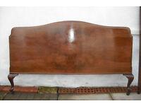 Victorian Walnut- Veneer Double headboard