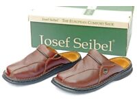 Josef Seibel Klaus - Size 9 /43 Men's leather slippers - Brand NEW - £34 (IDEAL XMAS PRESENT)