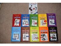 Set of Diary of a Wimpy Kid childrens books