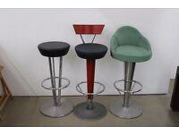 Retro vintage style bar stools
