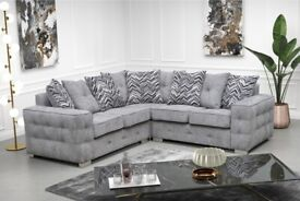Brand New Lisbon Plush Velvet Premium Fabric 3+2 / Corner Sofa / Multiple Colours available