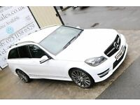 LATE 2012 MERCEDES C CLASS C220 CDI BLUEEFFY AMG SPT AUTO 168BHP EST (FINANCE & WARRANTY AVAILABLE)