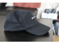MKI wool curved peak ball cap BLACK