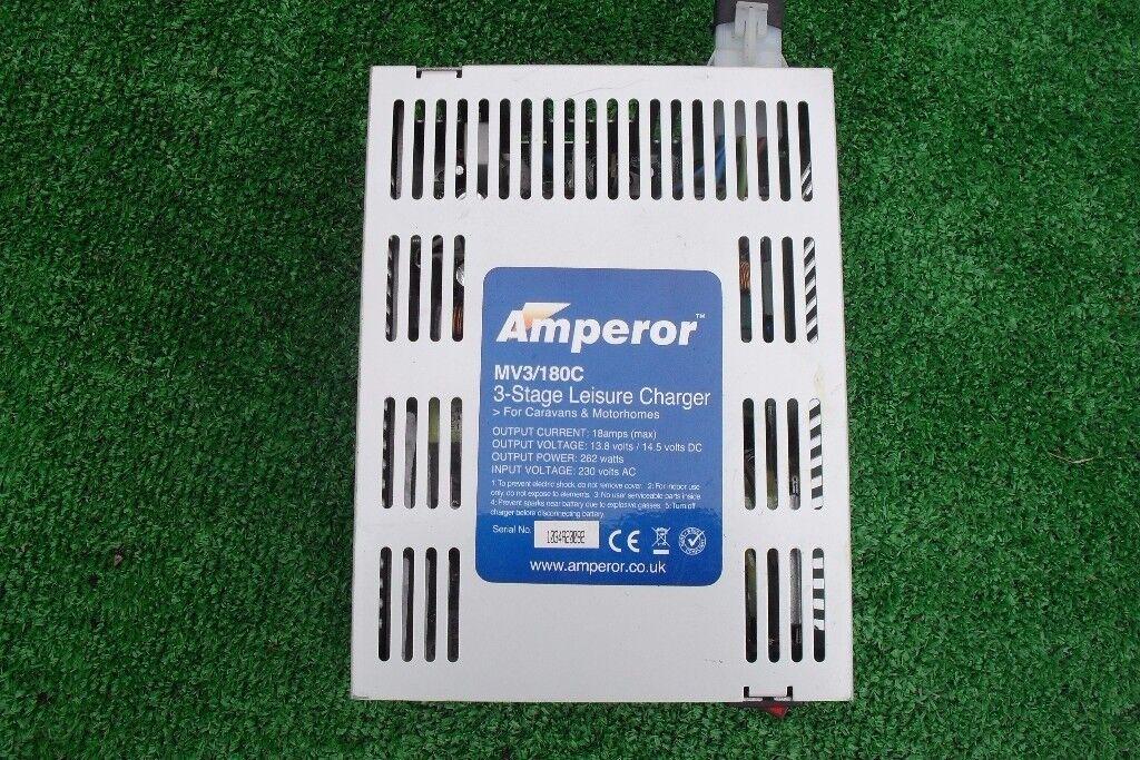 Amperor 3 Stage Leisure Battery Charger for Caravan or CamperVan 18AMP
