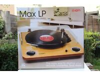 ION Vinyl Turntable USB Digital Conversion Max LP Record Player Audio Stereo NEW