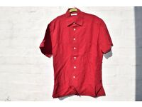 "Alex Cannon Large Red with a Cross Design Short-Sleeve Casual Shirt C47"" & N16 ½"""