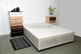 New Stock Divan Bed Base.Cheapest Online! All Sizes.4 Colors.Storage,Headbaord,Mattress