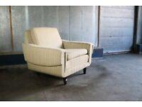 1970?s Danish armchair armchair with original oatmeal fabric